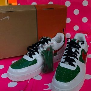 Nike Air Force 1 Premium Mexico Red Pine Green OBS